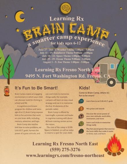 Brain Camp Flyer Summer